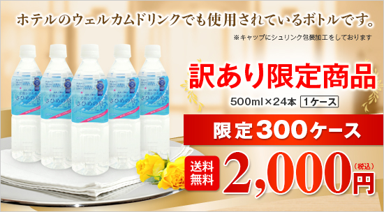 【訳あり限定商品】【送料無料】天然シリカ水 さひめの泉/500ml×24本