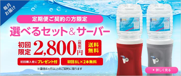 選べるセット&サーバー初回限定2800円